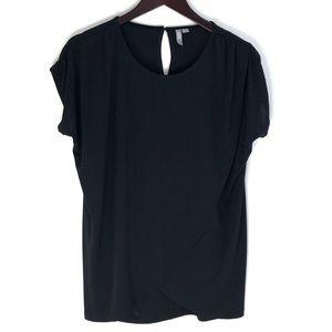 Asos Drapey Short Sleeves Black Top